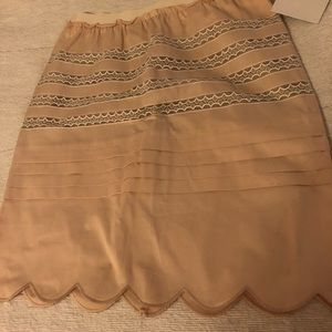 NWT Red Valentino scalloped pink skirt size 2